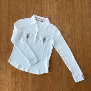 バーバリー(BURBERRY)の超美品 BURBERRY LONDON    長袖 ポロシャツ ホワイト 150(その他)