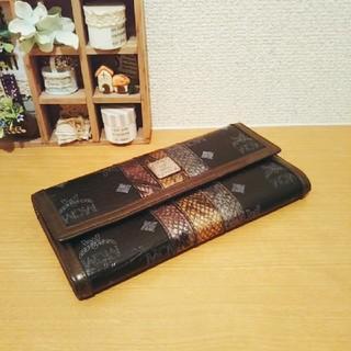 エムシーエム(MCM)の【正規品 未使用に近い】MCM レザー /長財布 (財布)