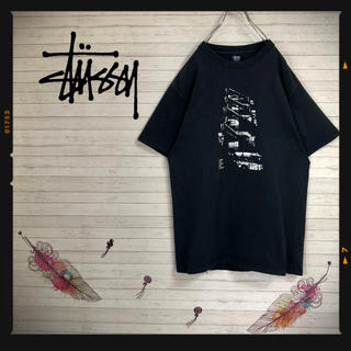 ステューシー(STUSSY)のUSA製 ステューシー stussy 90sヴィンテージTシャツ ブラック (Tシャツ/カットソー(半袖/袖なし))