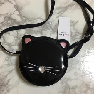 エニィファム(anyFAM)の新品 未使用 エニィファム 猫 ショルダーバッグ ポシェット 黒 any FAM(ポシェット)