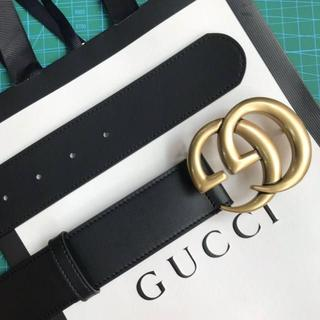 Gucci - GUCCI☆ダブルGバックル付き レザーベルト