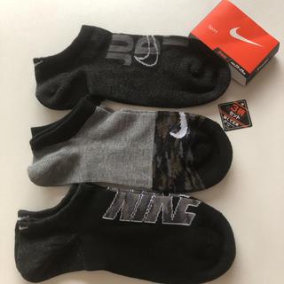 ナイキ(NIKE)の23〜25cm3足*NIKE3柄 キッズ スニーカーソックス(靴下/タイツ)