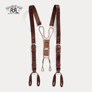 ダブルアールエル(RRL)の【新品】RRL Tooled Leather Braces(サスペンダー)