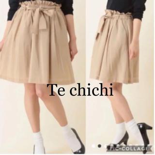 【新品未使用品】Te chichi*ビンテージ ボイル素材 ひざ丈スカート