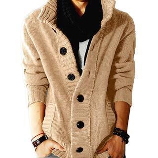 カーディガン メンズ ニット カーデ ゆったり着れる 大きいサイズ セーター (カーディガン)