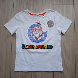エイチアンドエム(H&M)のH&M   スーパーマリオ リバーシブルスパンコールTシャツ  105㎝(Tシャツ/カットソー)