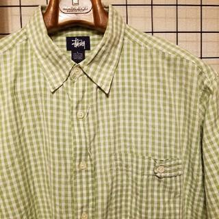 ステューシー(STUSSY)の90's vintage 紺タグ STUSSY ギンガムチェック柄 半袖シャツ(シャツ)