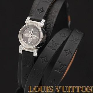 ルイヴィトン(LOUIS VUITTON)の極美品 ルイヴィトン Q151K タンブールビジュ ダイヤ レディース腕時計(財布)