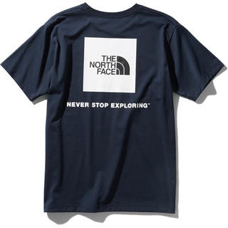 THE NORTH FACE - THE NORTH FACE ノースフェイス スクエアロゴ Tシャツ ネイビー
