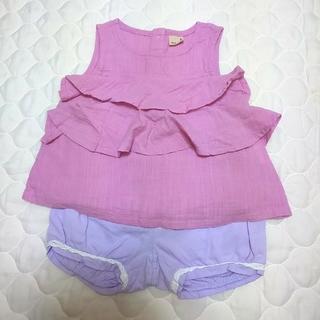 プティマイン(petit main)のおまとめ プティマイン トップス ショートパンツ 80(Tシャツ)