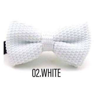 ◇ネクタイ◇蝶タイ 蝶ネクタイ◇ニットタイ◇色:WHITE ホワイト(サスペンダー)