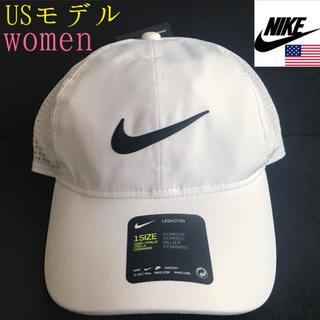 ナイキ(NIKE)のレア【新品】NIKE USA レディース 帽子 キャップ ホワイト(キャップ)