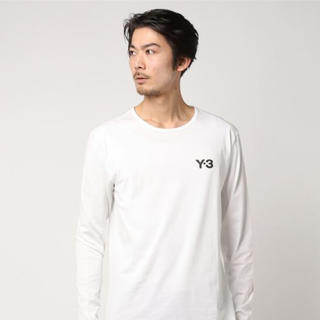 ワイスリー(Y-3)のY-3 LOGO LS TEE/ CE6752 WHITE(Tシャツ/カットソー(七分/長袖))