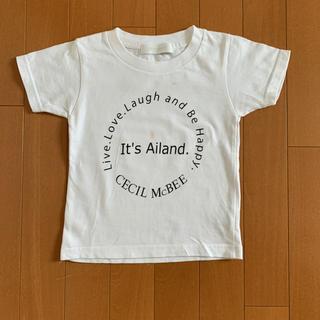 セシルマクビー(CECIL McBEE)のセシルマクビー キッズ 子供 Tシャツ レア!ホワイト サイズ100 ロゴ付き(Tシャツ/カットソー)