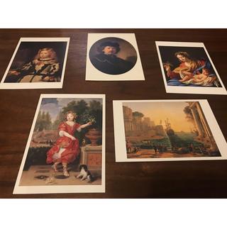 【5枚セット】西洋絵画 ポストカード ルーブル美術館(写真/ポストカード)