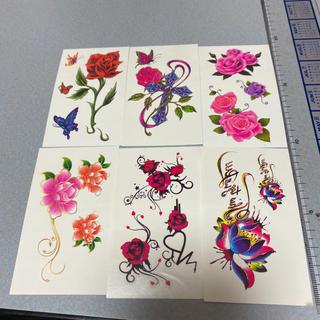 タトゥーシール メンズ レディース シール 薔薇 バラ 花 蝶々 蝶 バラフライ(アクセサリー)