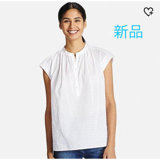 ユニクロ(UNIQLO)のUNIQLO*コットンドビーブラウス(半袖)(Tシャツ(半袖/袖なし))