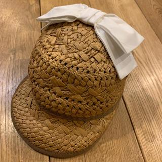 プティマイン(petit main)のプティマイン 帽子 麦わら帽子 48(帽子)