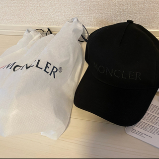 MONCLER - レア♡ MONCLER モンクレール ロゴ キャップ ブラック 新品