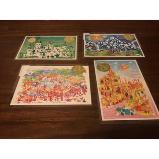 【4枚】世界遺産アート ポストカード(写真/ポストカード)