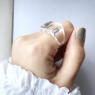 ミラオーウェン(Mila Owen)のsale【クリア】ワイド ボリューム リング(リング(指輪))