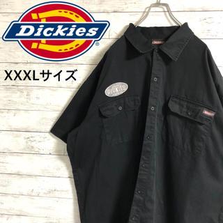 Dickies - 【大人気】ディッキーズ☆刺繍ロゴ ロゴタグ3XL ブラックワークシャツ半袖シャツ