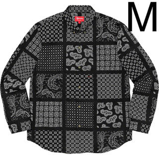 Supreme - Mサイズ SUPREME Paisley Grid Shirt シュプリーム