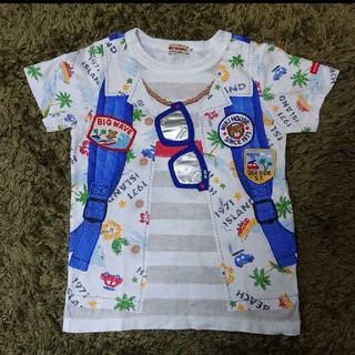 mikihouse - 美品♡ミキハウス フェイクモチーフ半袖Tシャツ