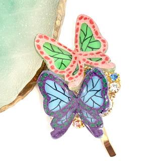 蝶々 蝶 ポニーフック リアルで立体(アクセサリー)