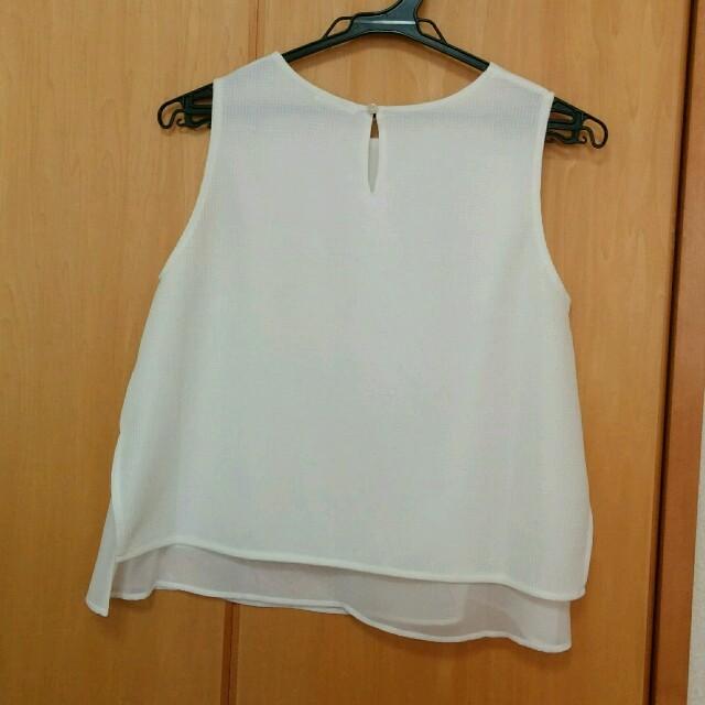 GU(ジーユー)のレイヤードノースリーブ レディースのトップス(シャツ/ブラウス(半袖/袖なし))の商品写真