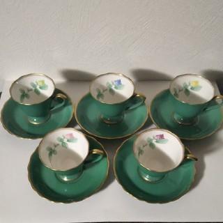 コウランシャ(香蘭社)の香蘭社 ローズガーデン コーヒーカップ&ソーサー(グラス/カップ)