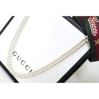 グッチ(Gucci)の正規品 GUCCI/グッチ 美品 2連 ボールチェーン/Wチェーン ネックレス(ネックレス)