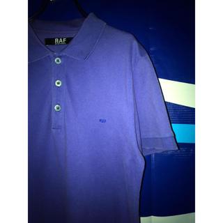 ラフシモンズ(RAF SIMONS)のraf simons ラフシモンズ 紫 パープル 刺繍ロゴ 半袖 ポロシャツ(ポロシャツ)