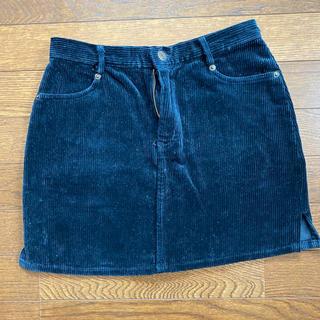 ブルームーンブルー(BLUE MOON BLUE)のネイビー コーデュロイ ミニスカート(ミニスカート)