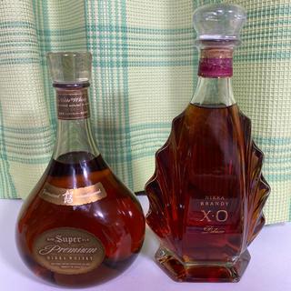 ニッカウイスキー(ニッカウヰスキー)のニッカ ウイスキー ブランデー2本セット 未開封(ウイスキー)