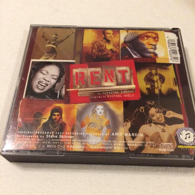 「レント」オリジナル・ブロードウェイ・キャスト・レコーディング エンタメ/ホビーのCD(ポップス/ロック(洋楽))の商品写真