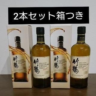 ニッカウヰスキー - 竹鶴 ピュアモルト 2本 箱つき ニッカ シングルモルト ウイスキー