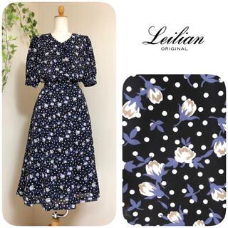 leilian - レリアン ◆ 花柄シフォンセットアップ ◆ レトロ モダン