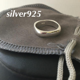 silver 925 メンズレディース シンプルリング 指輪 スクエア(リング(指輪))