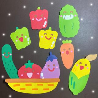 夏 壁面 夏野菜(型紙/パターン)