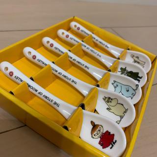 新品!! ムーミン 陶製 スプーセット(5本)(カトラリー/箸)