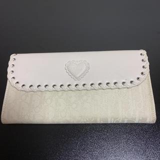 ディオール(Dior)のChristian Dior ディオール 長財布 2つ折り トロッター柄(財布)