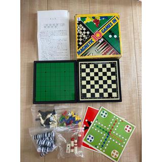 10種のゲームが楽しめるボードゲーム MAGNETIC10GAMES IN 1(オセロ/チェス)
