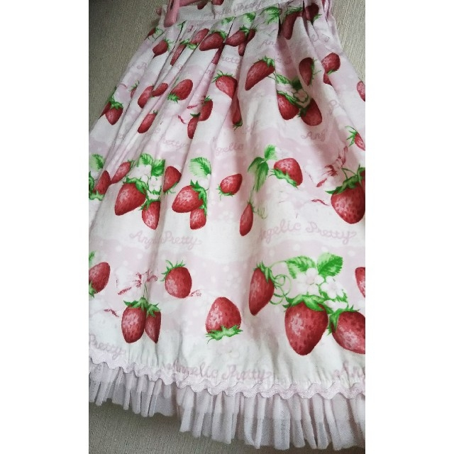 Angelic Pretty(アンジェリックプリティー)のAngelic Pretty いちごミルフィーユスカート レディースのスカート(ひざ丈スカート)の商品写真