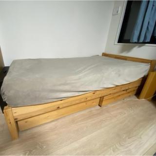 ムジルシリョウヒン(MUJI (無印良品))の【最終値下げ】無印良品 マットレス付シングルベッド(シングルベッド)