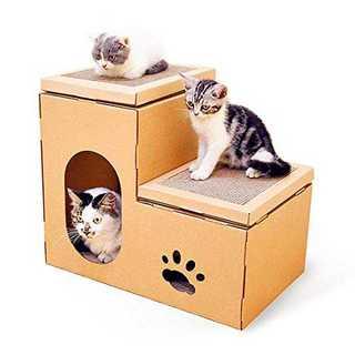 爪とぎ ねこ ベッド ダンボールハウス 猫タワー 爪研ぎ つめとぎ 高密度段ボー