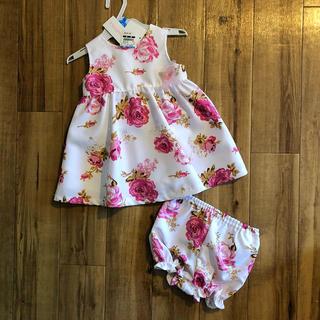 ニシマツヤ(西松屋)の新品❤︎女の子 ドレス ワンピース セットアップ 80センチ(ワンピース)