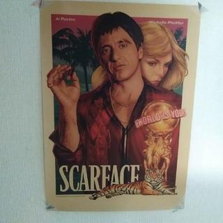 A22 スカー・フェイス 壁ポスター クラフト紙 高品質(ポスター)