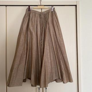 nest Robe - ネストローブ リネン切り替えギャザースカート