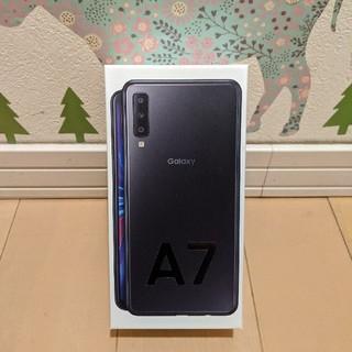 新品未使用 Galaxy A7/ブラック/64GB/SIMフリー(スマートフォン本体)